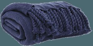Clarence Throw Blanket, Navy | Decorist