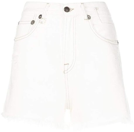 denim frayed edge shorts