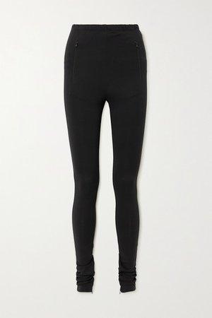 Stretch-jersey Leggings - Black