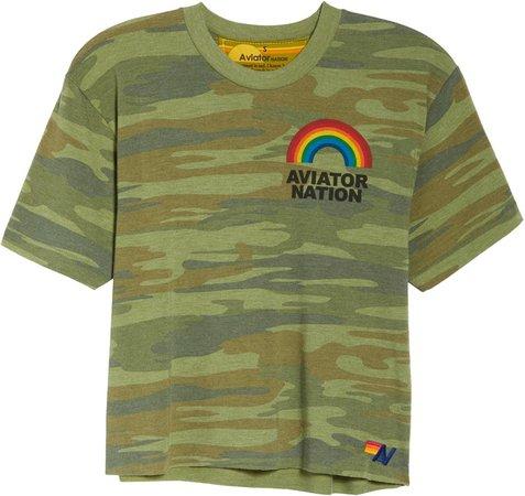 Rainbow Camouflage Boyfriend T-Shirt