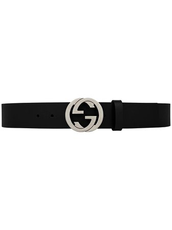 Gucci Leather Belt With Interlocking G Buckle - Farfetch