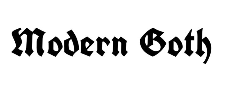 modern goth text - @kxtty