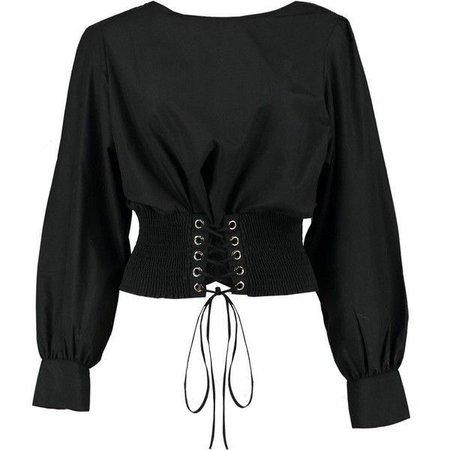 black belted top