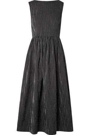 Netaporter  CO Striped crinkled cotton-blend midi dress