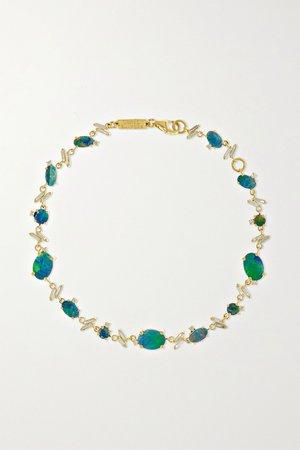 Gold 18-karat gold, opal and diamond bracelet | Suzanne Kalan | NET-A-PORTER