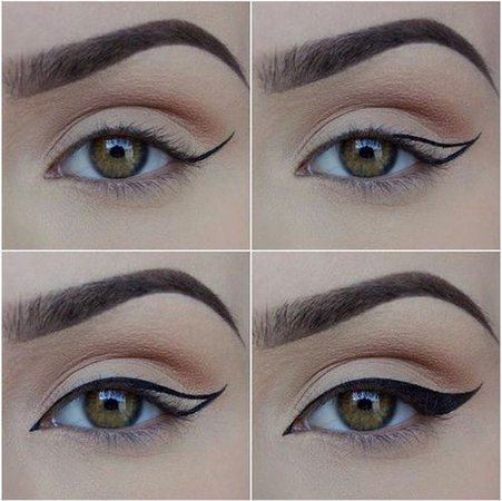 simple eye makeup with eyeliner