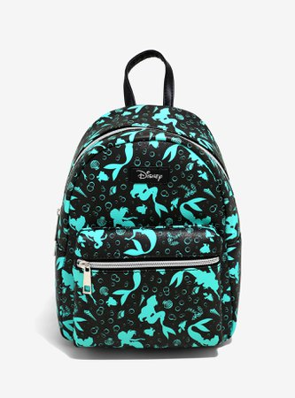 Loungefly Disney The Little Mermaid Teal Silhouette Mini Backpack