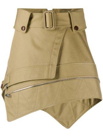 Neutral Alexander Wang Deconstructed Trench Skirt For Women | Farfetch.com