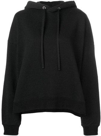 rear print hoodie