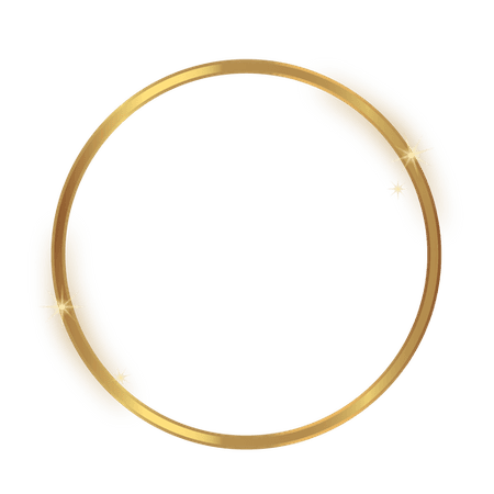 Glossy circle golden frame - Transparent PNG & SVG vector