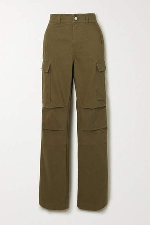 Cotton-twill Cargo Pants - Army green
