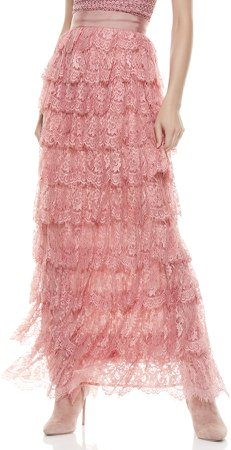 Ella Lace Tiered Maxi Gown Skirt