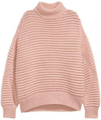 Knit Wool-blend Sweater - Orange