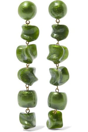 Cult Gaia | Leo gold-tone resin earrings | NET-A-PORTER.COM