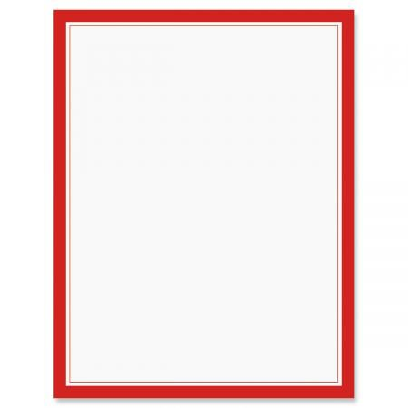 Red Frame Patriotic Letter Papers   Colorful Images