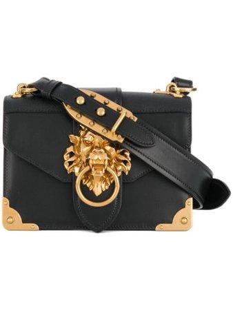 Prada Cahier Lion-embellished Shoulder Bag $2,700 - Buy AW17 Online - Fast Delivery, Price