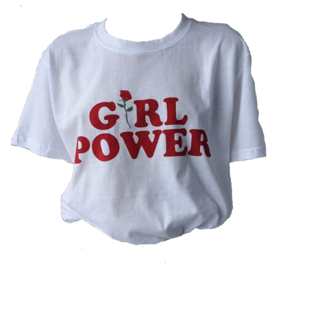aesthetic clothes png retro girl power shirt white