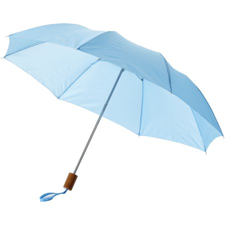light blue umbrella