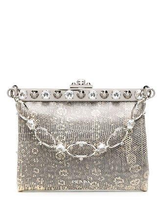 Prada crystal-embellished tote bag B2486S2A37 - Farfetch
