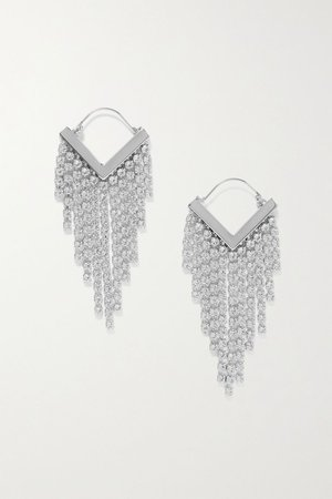 Silver Melting silver-tone crystal earrings | Isabel Marant | NET-A-PORTER