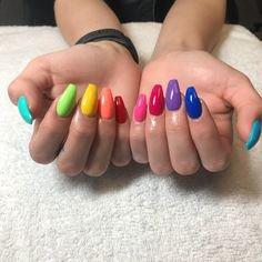 Rainbow nails (32) Pinterest