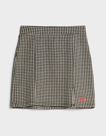 Gingham skirt - New - Bershka United States