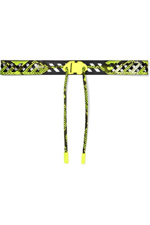 Off-White | Neon snake-effect leather belt | NET-A-PORTER.COM