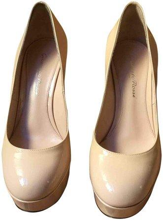 Beige Leather Heels