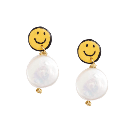 Smiley Earrings – Susan Alexandra