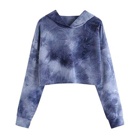 HARRYSTORE Women Crop Jumpers Long Sleeve Cropped Hoodie Sweatshirt Jumper Sweater Girl Crop Top Pullover Tops Hoodies Casual Short Blouse T-Shirt: Amazon.co.uk: Clothing