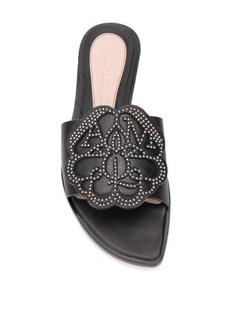 Alexander McQueen stud-embellished flat sandals