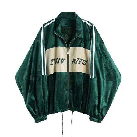 green sports jacket