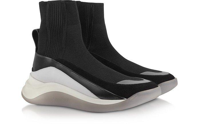 SportMax Black Ovada Pull-On Sneakers 35 EU (5 US | 2 UK) at FORZIERI