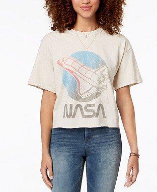 True Vintage Cotton NASA-Graphic T-Shirt