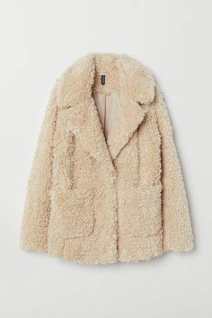 Faux Fur Jacket - White