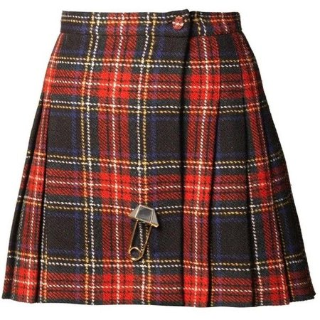 SAINT LAURENT Tartan mini skirt ($945)