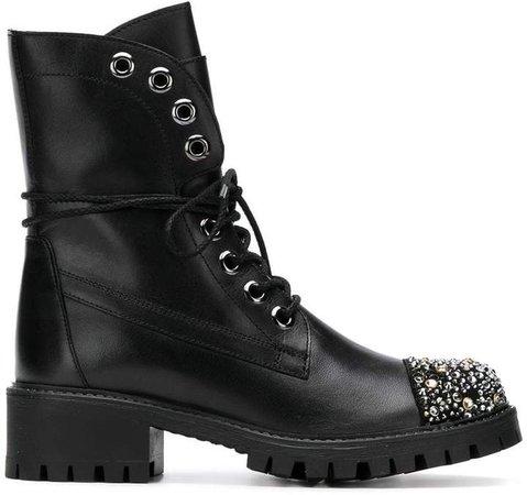 embellished biker boots