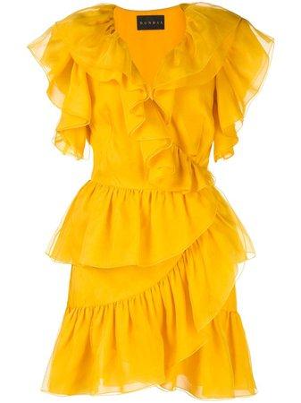 Dundas ruffled mini dress - FARFETCH