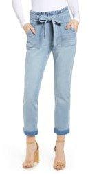 Belted Paperbag Waist Jeans