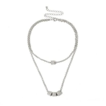 Dice Double Necklace   Own Saviour