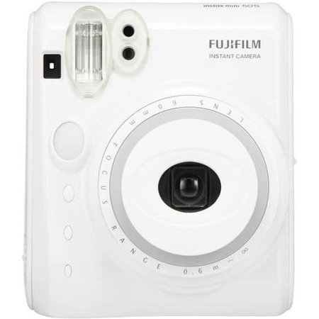 New Model Fuji Instax Mini 50s Piano White Fujifilm Instant Camera ($105) ❤ liked on Polyvore featuring fillers, accessories and white fillers