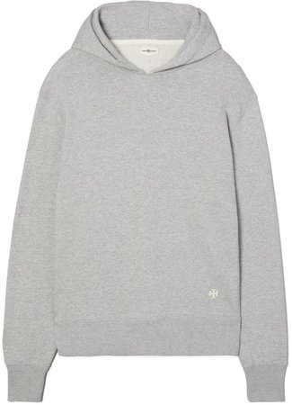 Melange Relaxed French Terry Hoodie