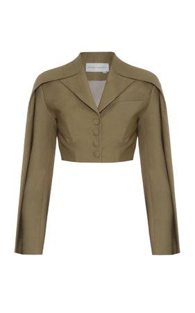 Aleksandre Akhalkatsishvili Double Sleeve Cropped Wool Blazer