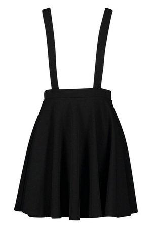Basic Jersey Pinafore Skirt | Boohoo