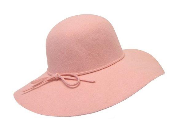pink floppy wool hat