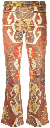 Pre-Owned Geometric printed trousers
