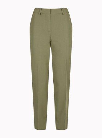 Khaki Ankle Grazer Trousers