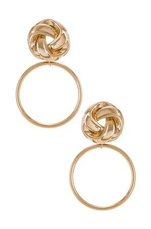 Epifene Cinnamon Earrings in Gold   REVOLVE