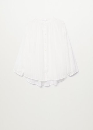 Oversize cotton blouse - Women | Mango USA