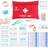 Amazon.com: Anpole 106 Pieces Compact First Aid Kit, Professional Emergency Kit Waterproof Indoor Outdoor Medical Emergency Bag for Home, Car, Camping, Office, Boat, Hiking, Sports, and Traveling (S): Sports & Outdoors